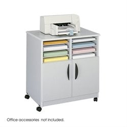 Mobile Stand with Sorter in Gray