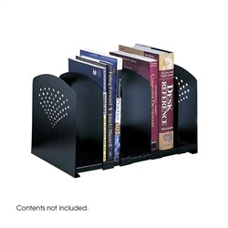 Black Five Section Adjustable Book Rack