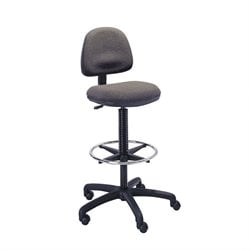 Extended Drafting Chair with Footrest in Dark Gray