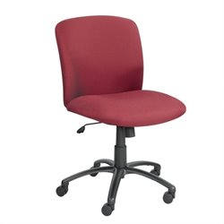 Safco Uber Big and Tall Mid Back Task Office Chair in Burgundy