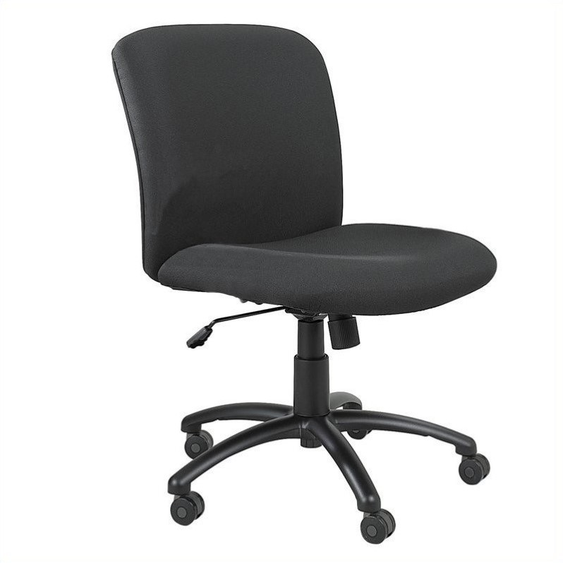 Big and Tall Mid Back Task Office Chair in Black