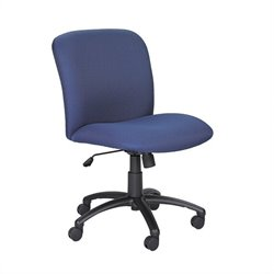 Big and Tall Mid Back Task Office Chair in Blue