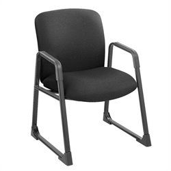 Safco Uber Big and Tall Guest Chair in Black with Sled Base