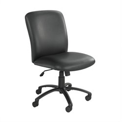 Big and Tall High Back Task Office Chair in Black Vinyl