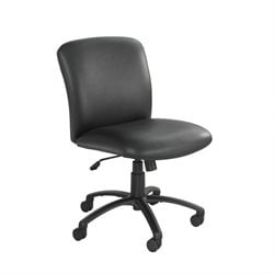 Big and Tall Mid Back Armless Task Office Chair in Black Vinyl
