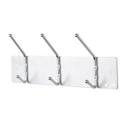 3 Hook Wall Coat Rack (Set of 12)