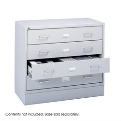 Safco 4-Drawer Audio and Video Microform Cabinet