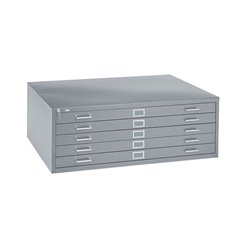 Safco 5 Drawer Metal Flat Files Cabinet for 24