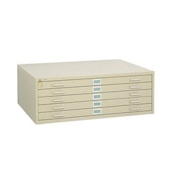 Safco 5 Drawer Metal Flat Files Cabinet for 36