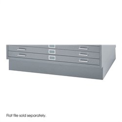 Safco Closed Low Base for 4998 Flat File Cabinet in Gray