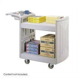 2-Shelf Molded Utility Cart