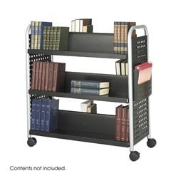 Double Sided 6 Shelf Book Cart