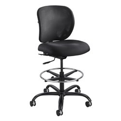 Safco Vue Adjustable Drafting Chair in Black