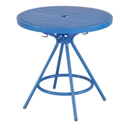 CoGo Steel Patio Bistro Table in Blue