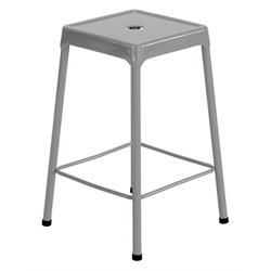 Steel Stool in Silver