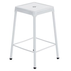 Steel Stool in White