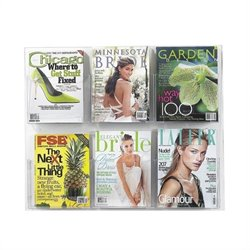 Safco Clear2c 6 Magazine Display