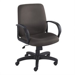 Black Executive Mid-Back Office Chair