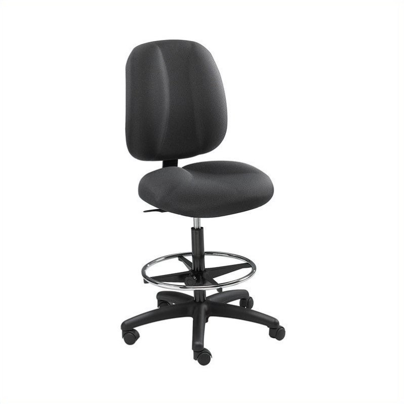 Black Extended Height Drafting Chair