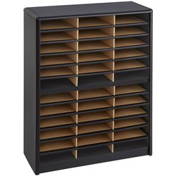 36 Compartment Metal Flat Files Organizer in Black