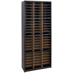 72 Compartments Flat Files Organizer in Black