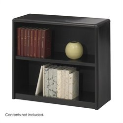 2 Shelf Economy Steel Bookcase in Black