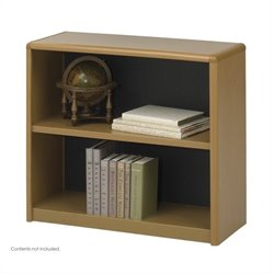 2-Shelf ValueMate Medium Oak Economy Steel Bookcase