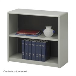 Safco 2-Shelf ValueMate Grey Economy Steel Bookcase