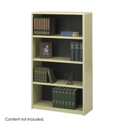 Safco 4-Shelf ValueMate Sand Economy Steel Bookcase
