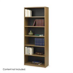 6-Shelf ValueMate Medium Oak Economy Steel Bookcase