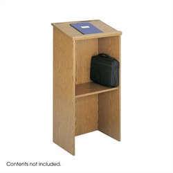 Medium Oak Stand-Up Podium