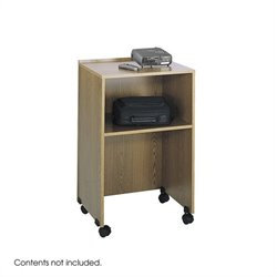 Medium Oak Podium Base/Media Cart