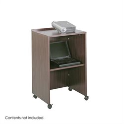 Mahogany Podium Base/Media Cart