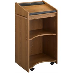 Medium Oak Executive Mobile Podium