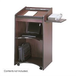 Mahogany Executive Mobile Podium