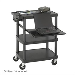 Black Multimedia Projector Cart