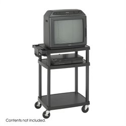 Black Plastic AV Cart