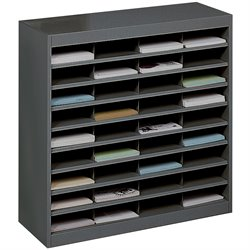 Black Mail Organizer - 36 Letter Size Compartments
