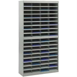 Safco E-Z Stor Grey Mail Organizer -  72 Letter Size Compartments