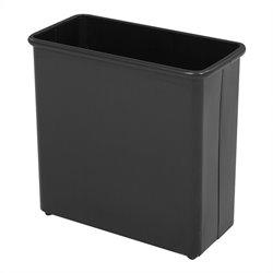 Safco Black Rectangular Wastebasket 27.5 Quart (Set of 3)