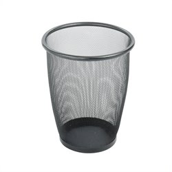 Safco Onyx Mesh Medium Round Wastebasket (Set of 3)