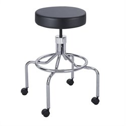 Lab/Drafting Chair with High Base and Screw Lift in Black