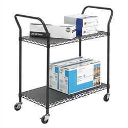 Wire Utility Cart in Black