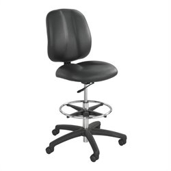 Safco Apprentice II Extended Height Vinyl Drafting Chair in Black