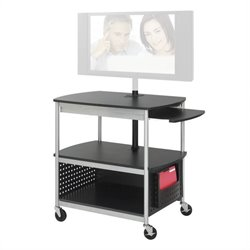Open Flat Panel Multimedia Cart