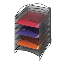 6 Compartment Mesh Literature Organizer
