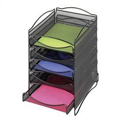 5 Drawer Mesh Literature Organizer