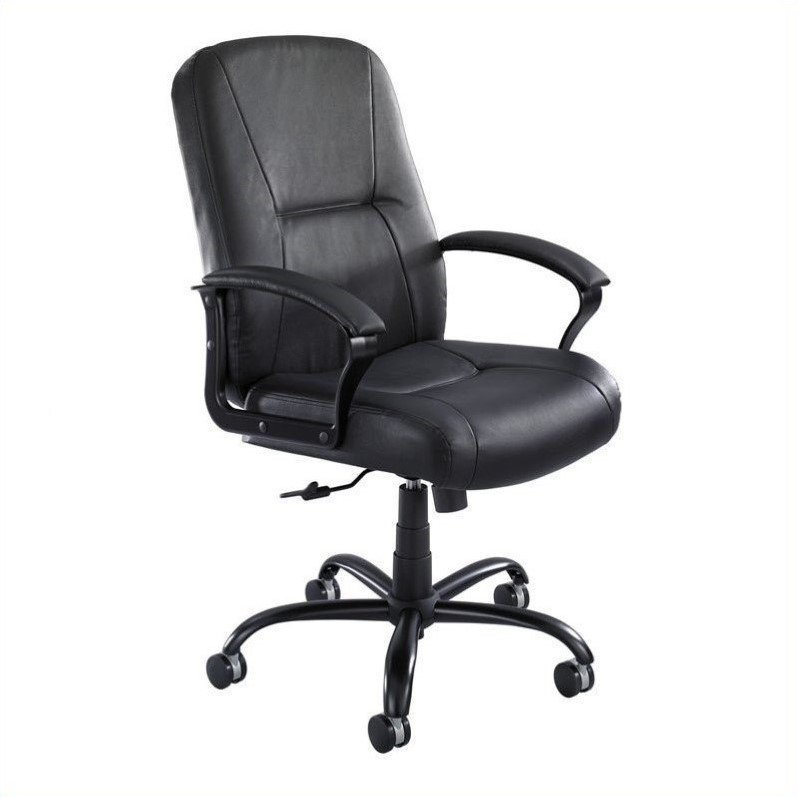 High Back Big And Tall Office Chair In Black Leather 3500bl