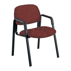Safco Cava Urth Straight Leg Guest Chair in Burgundy