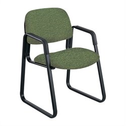 Safco Cava Urth Sled Base Guest Chair in Green